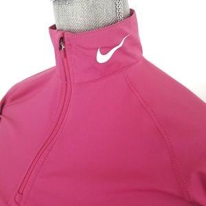 Nike pink pro combat half zip pullover